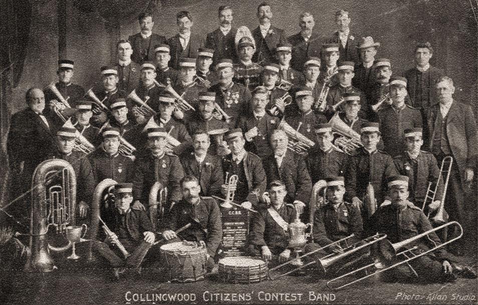 Vintage brass band